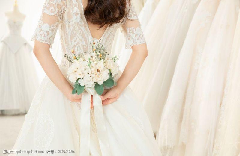 新娘婚礼婚纱背景海报素材图片