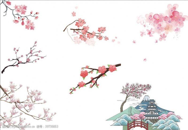 樱花背景樱花桃花图片