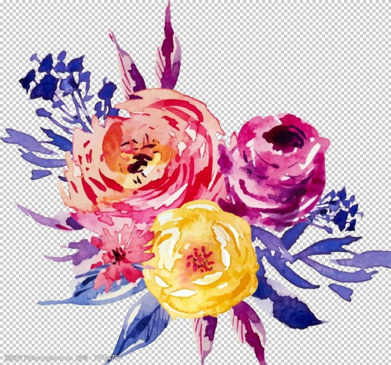 彩绘花卉图片
