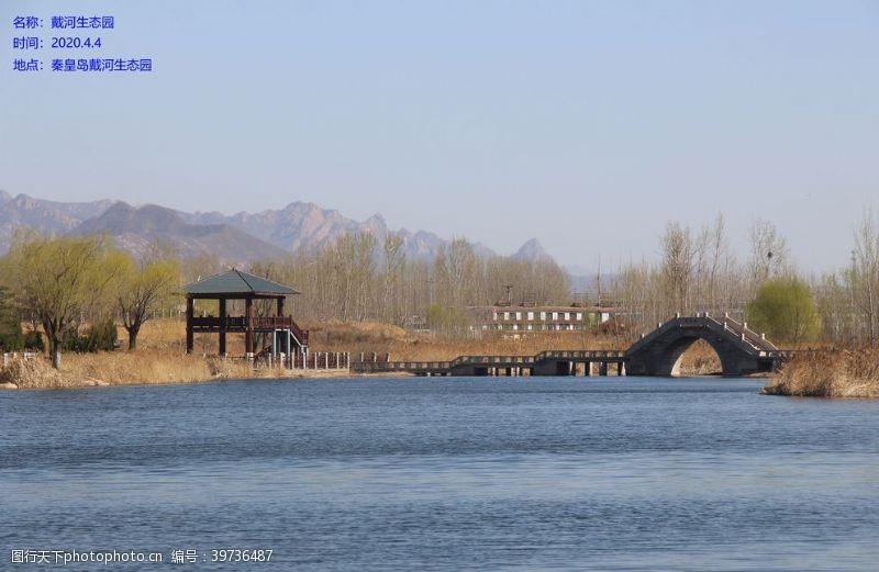 公园廊桥图片