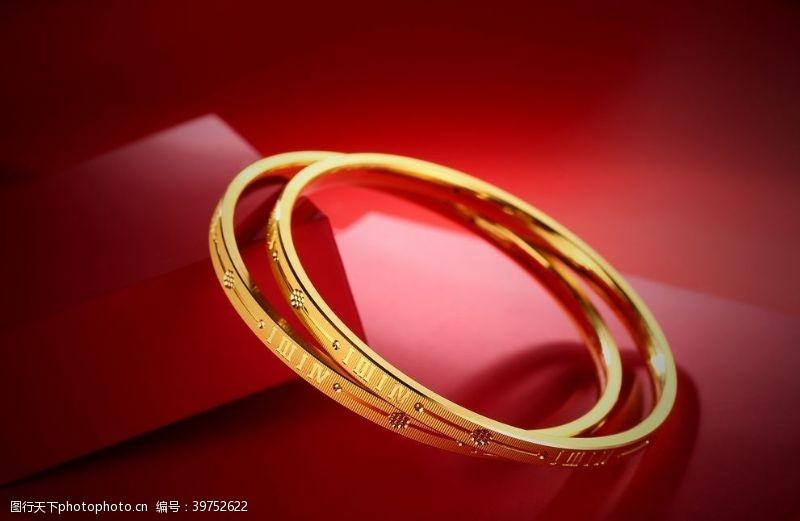戒指黄金手镯图片