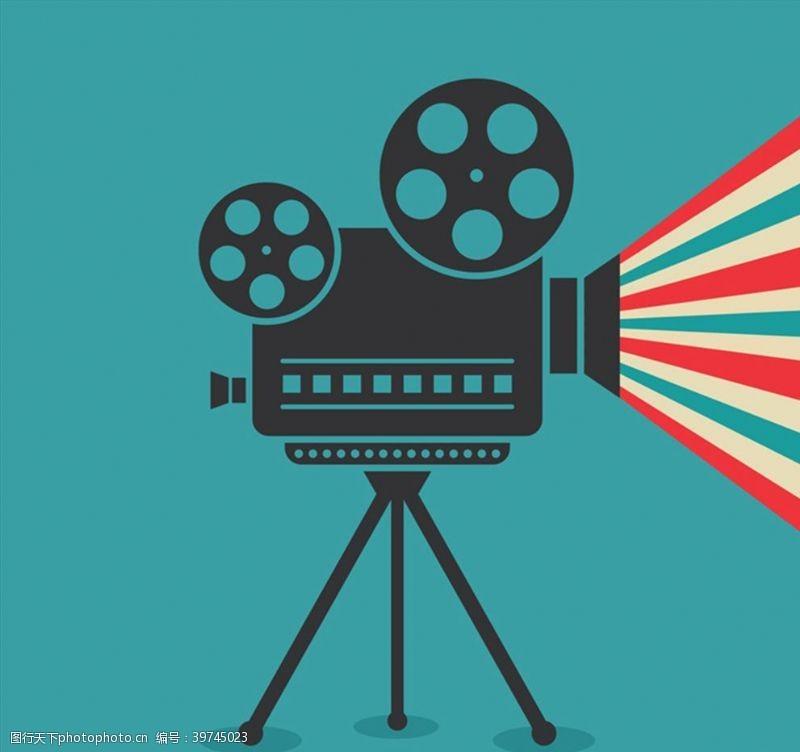 电影放映机矢量图片