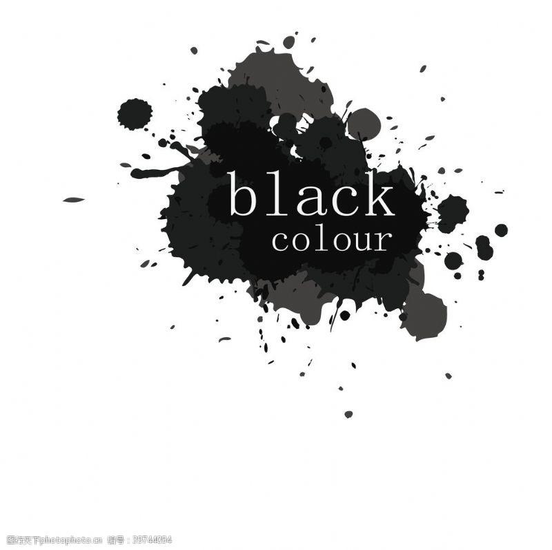 黑色喷溅墨迹图片