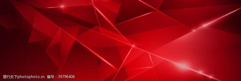 高档封面红色几何背景图片