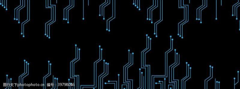 边框底纹科技感线条图片