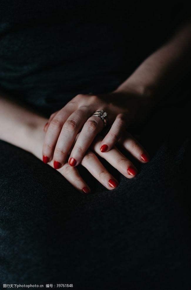 戒指美甲图片