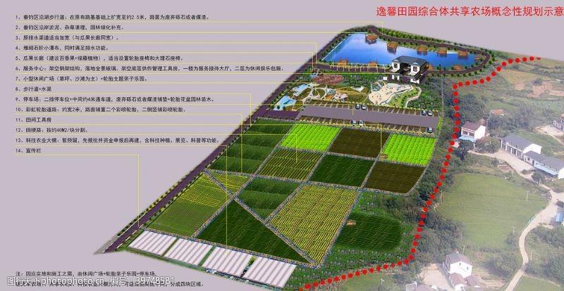 规划图农庄鸟瞰图图片