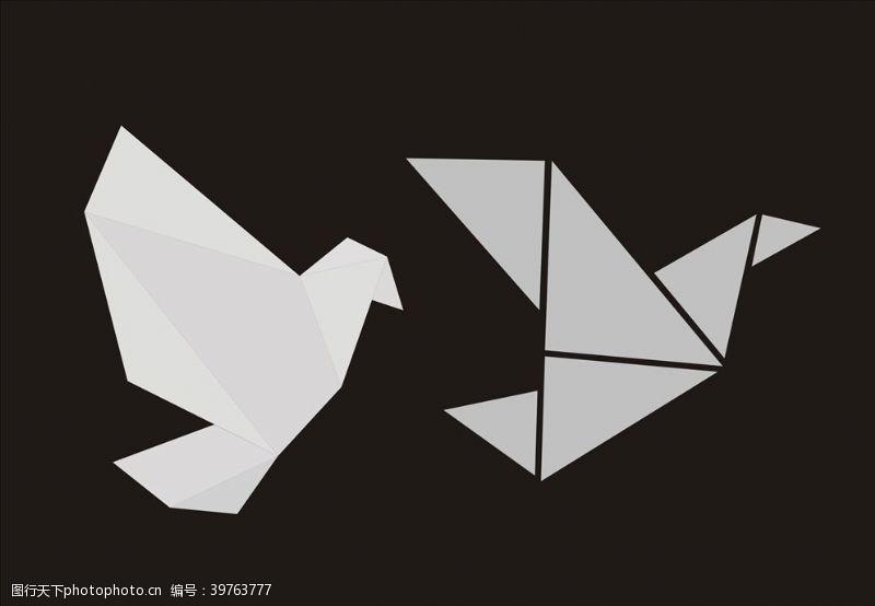 建筑花纹千纸鹤图片
