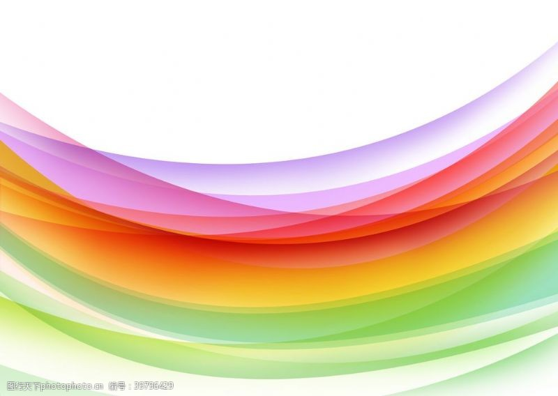 创意展板彩色线条背景图片