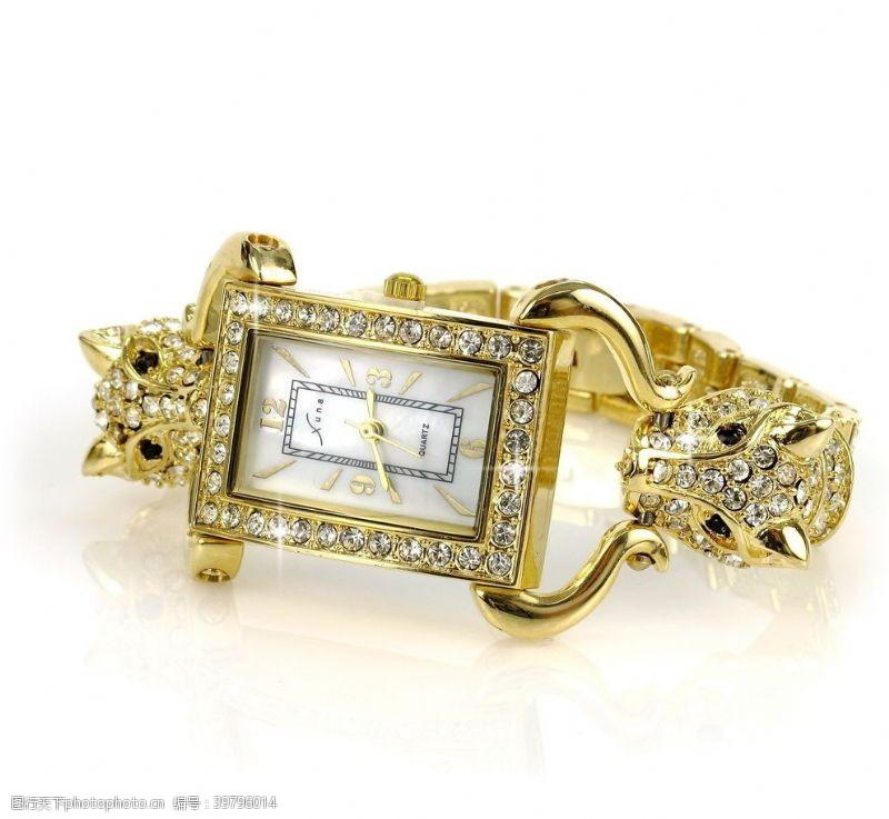 金剪长方形手表图片