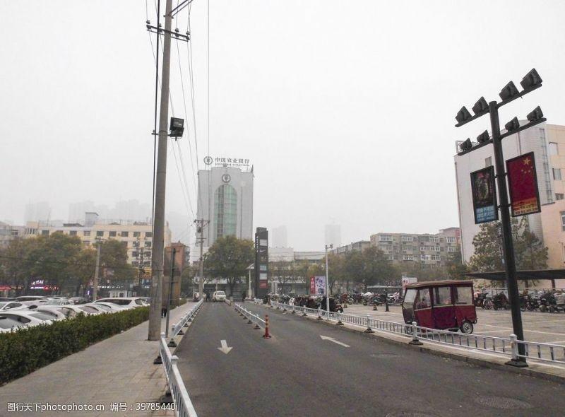 污染城市雾霾图片