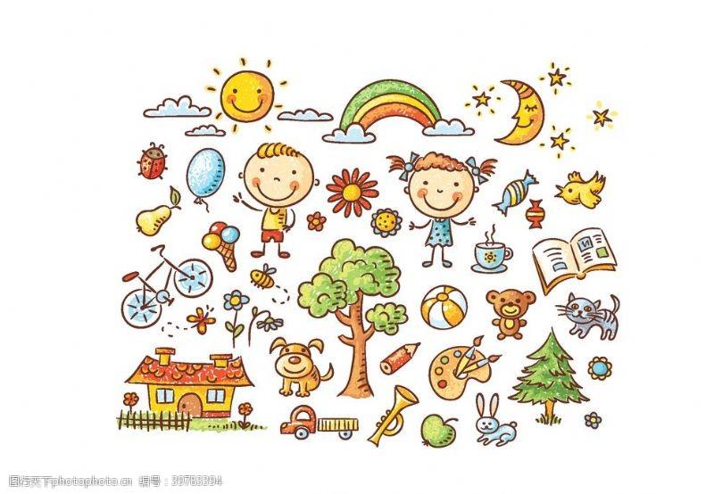 卡通儿童绘画图片