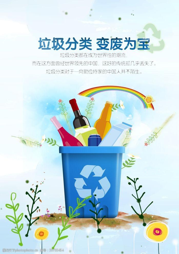 创建卫生城市垃圾分类变废为宝图片