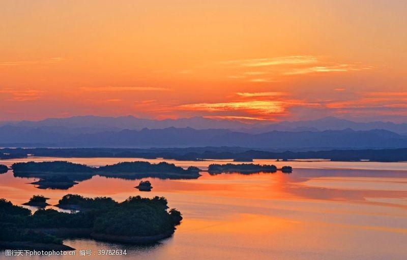 日出日落山水风光图片