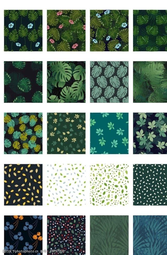 花纹图案树叶叶子图案图片