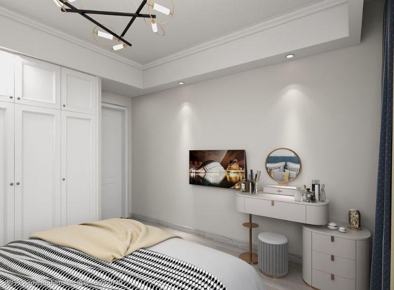 台灯卧室图片
