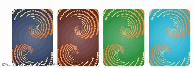 扑克牌炫彩几何背景图片