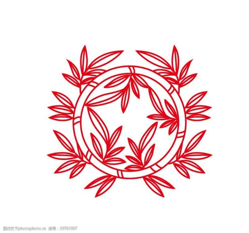 巴洛克风格竹子图案图片