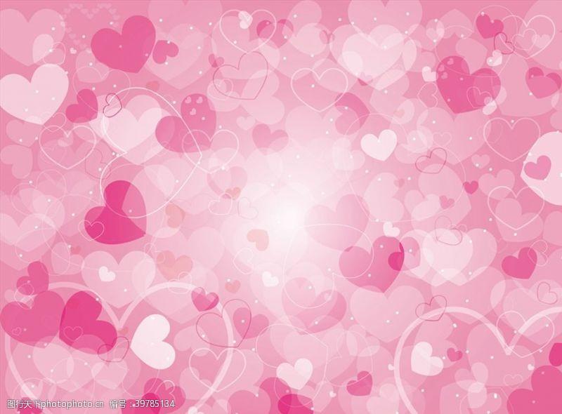 桃心粉色爱心背景图片