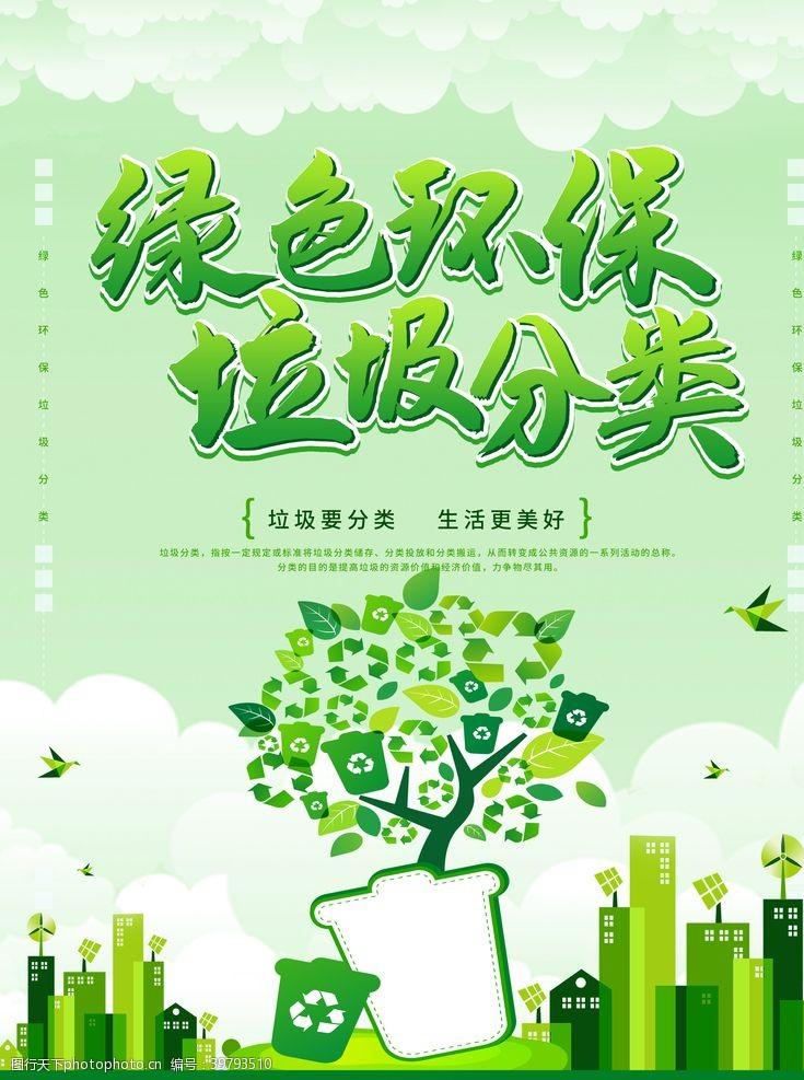 创建卫生城市绿色环保垃圾分类图片
