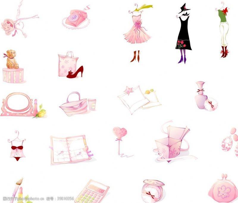 香水女性时尚可爱小物件图片