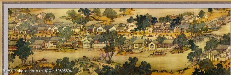 画框清明上河图图片