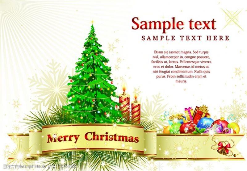 圣诞卡片矢量素材图片