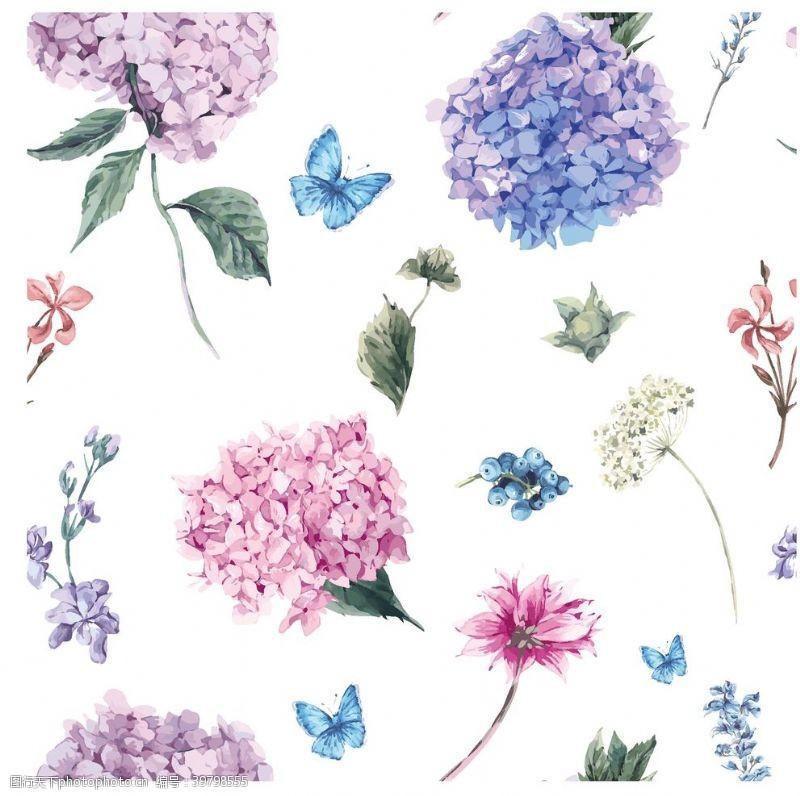底圖手繪水粉花束圖片