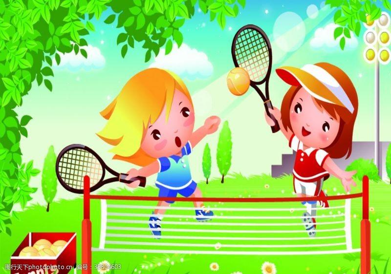 骑车网球图片