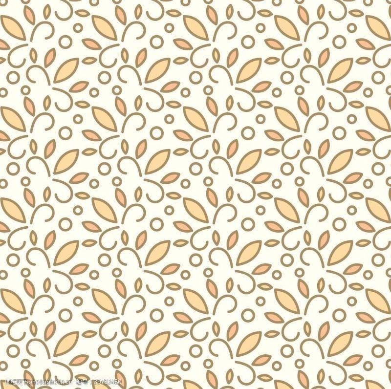 巴洛克风格叶子花纹图片