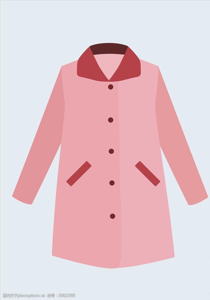 睡衣大衣粉色大衣图片