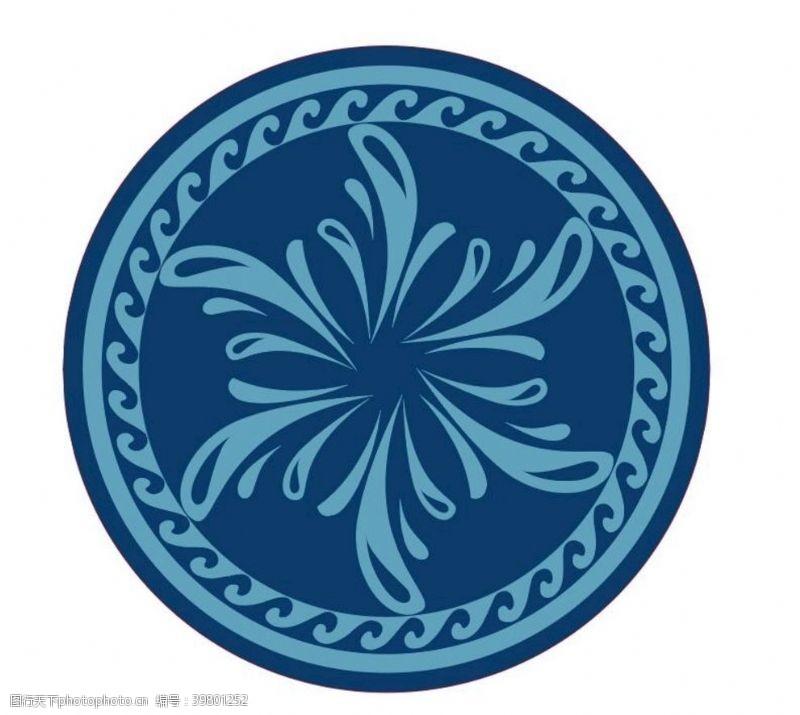 矢量图库矢量圆对称花纹图片