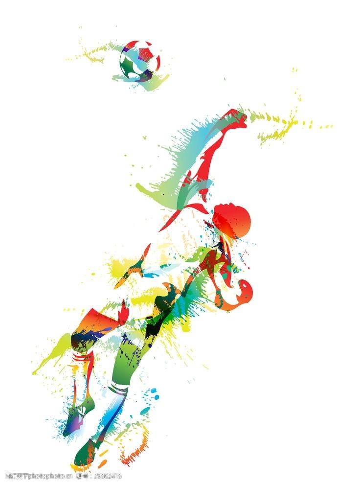 踢球矢量足球守门员图片