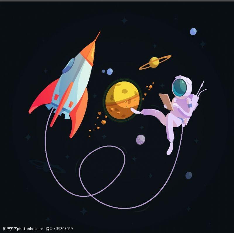 美国国旗太空宇宙图片