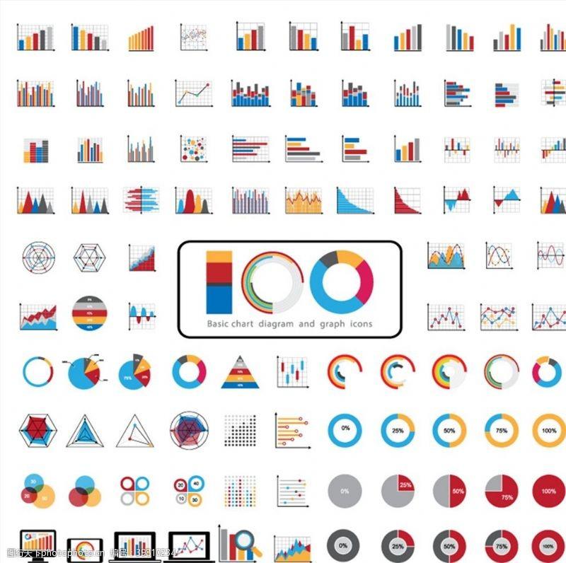 趋势图表和图形图标图片