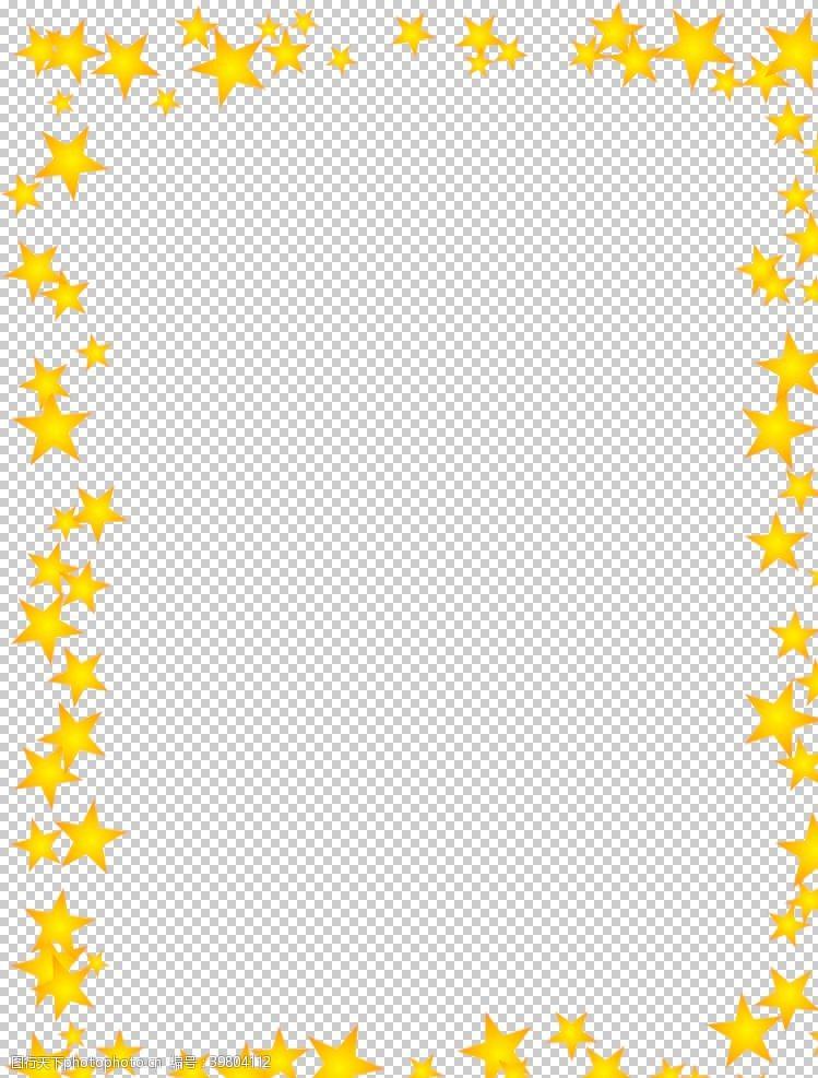方框星星框图片