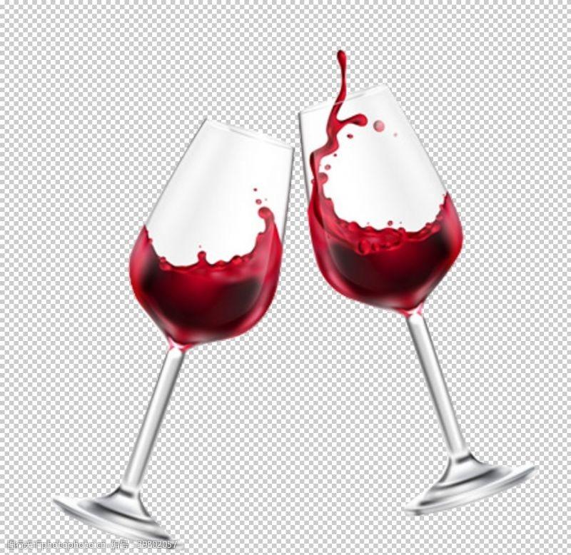 png透明底洋酒黄酒红酒透明底免扣图图片