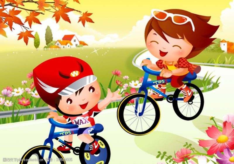 骑车自行车图片
