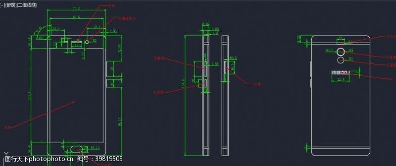 其他矢量CAD手机模型图片