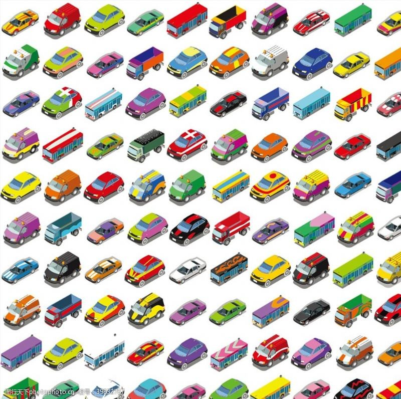 各种彩色车辆图片