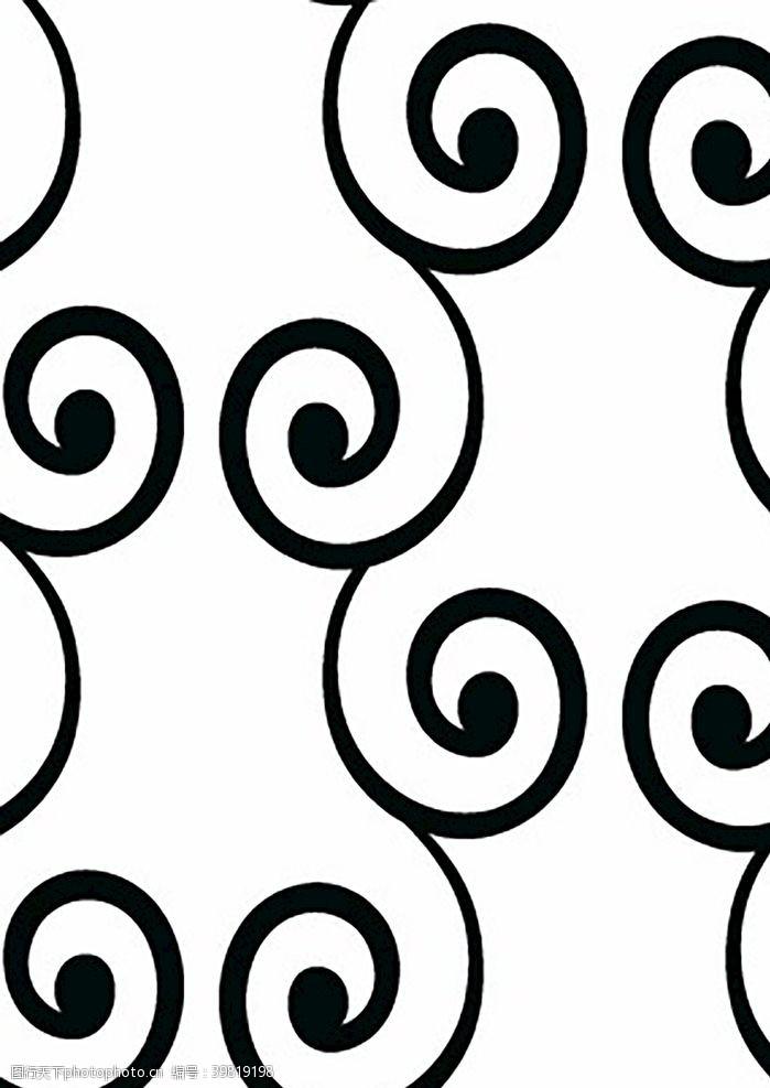 底紋邊框簡易圖案黑白裝飾花邊花圖片