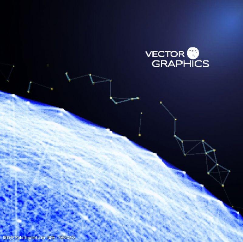 世界地图科幻背景图片