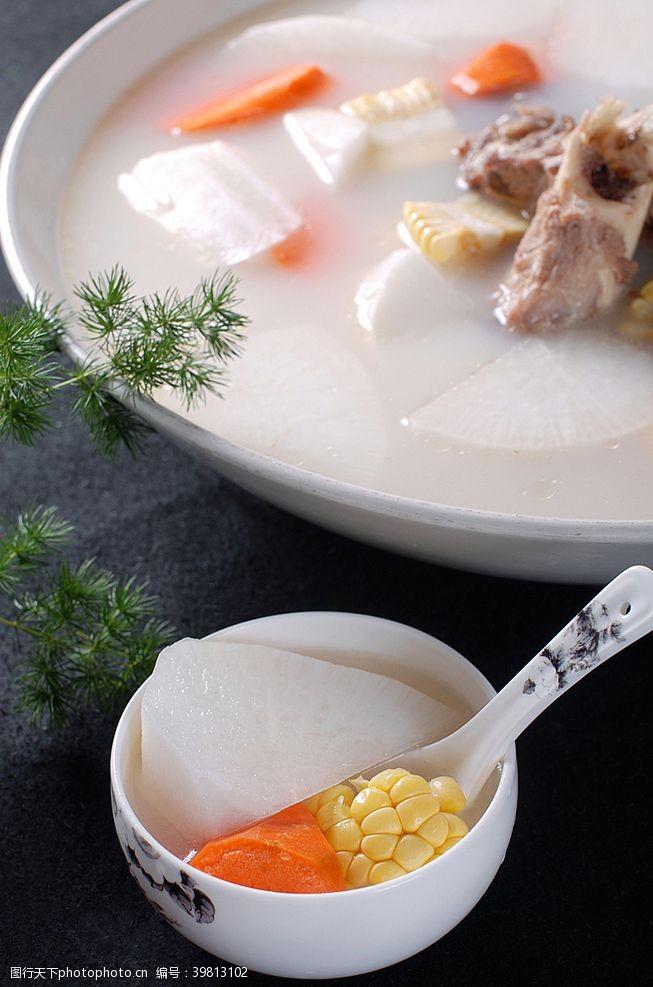 蘿卜燉大骨湯圖片