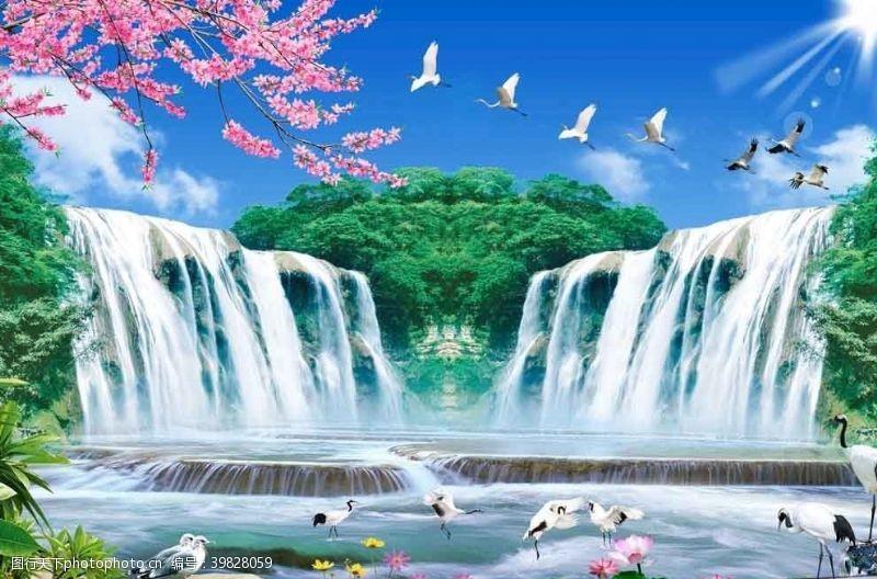 裝飾瀑布圖片