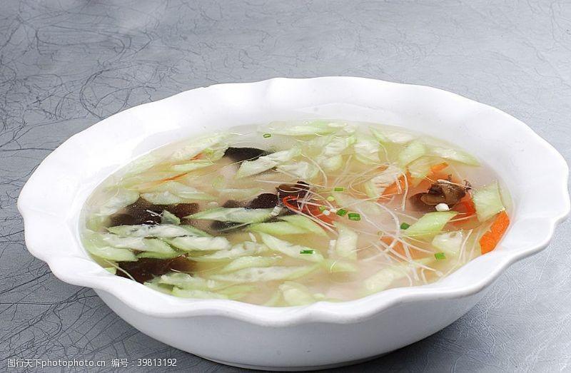 青瓜肉片湯圖片