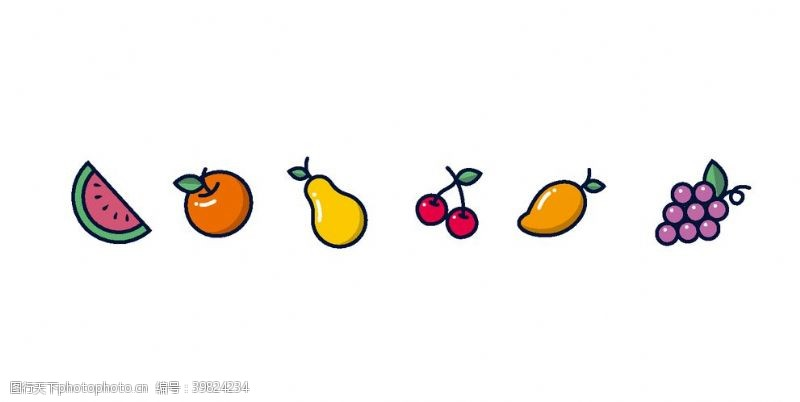 鸭梨矢量水果图案图片
