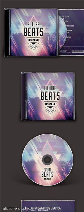 音乐CD封面模板图片