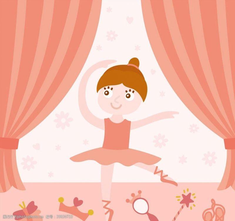 镜子芭蕾舞女孩图片