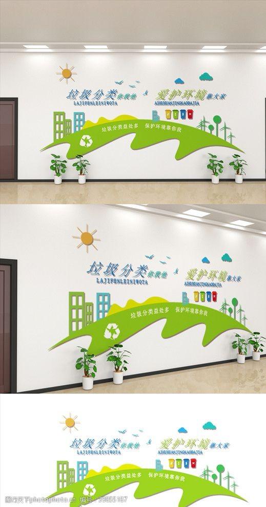 保护环境社区文化墙图片