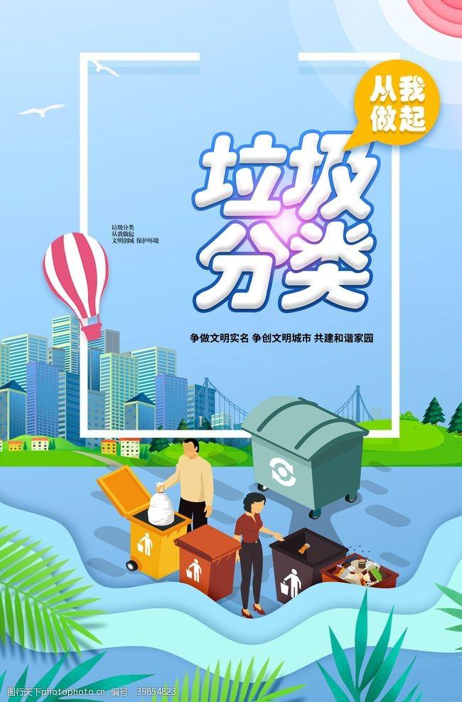 保护环境城市垃圾分类图片
